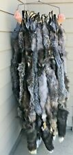 Tanned Silver Fox Hide, Lowgrade, rubbing, fur, pelt, sfrbLG