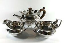 More details for magnificent georgian solid silver sterling tea set 1133 g  london 1801 teapot