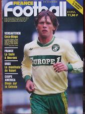 France Foot N°2150 (23 juin 1987) Vercauteren - Norvège-France- Aquipe Brésil