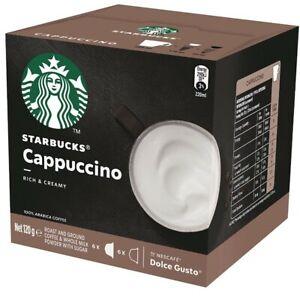 12 x Starbucks CAPPUCCINO coffee pods capsules by Nescafe Dolce Gusto Arabica