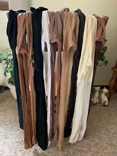 Lot of 10  Women's Used  Sheer Nylon Hosiery Queen Size  Assorted Colors