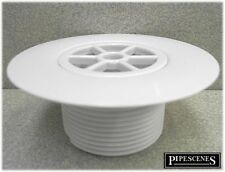 """Replacement Shower Drain Top Waste Trap White ABS 1.5"""" INCH Thread 85mm"""