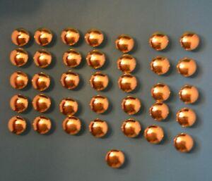 36 vtg golden brass drawer or cabinet pulls KNOBS