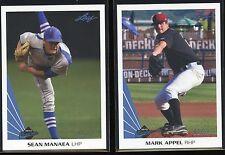 2013 Leaf Memories Baseball Blue Parallel Card 02/50- MARK APPEL