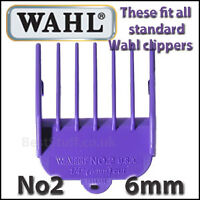 "Wahl Clipper Attachment Comb No2  6mm 1/4"" - Fits Full Sized WAHL Clippers"