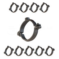 Highcraft Hinged Split Ring Pipe Hanger, Malleable Iron Clamp (10 Pack)