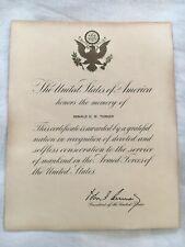 John F Kennedy Signed letter