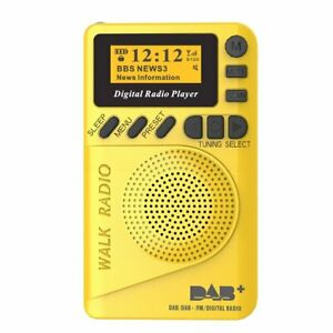 DAB / DAB+ Digital FM Radio Portable LCD MP3 Player Battery Rechargeable Pocket