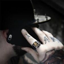 Men Rings Punk Retro Pirate Skull Cross Vintage Gothic Personalized Jewellery