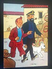Ancienne carte postale  Yvon Tintin Temple du Soleil  TBE