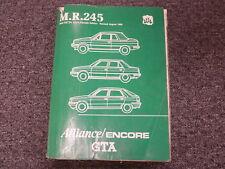 1983 1984 1985 1986 1987 Renault Alliance Encore GTA Shop Service Repair Manual