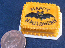1:12 Scale Oblong Halloween Cake Dolls Miniature House Kitchen Accessory SC33