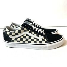New listing Vans Off The Wall Checkerboard White Black Canvas Lace Up Skate Shoes Womens 11