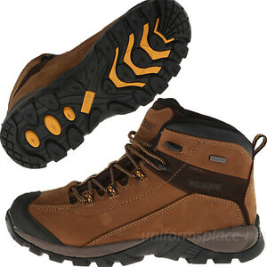 Wolverine Work Boots Mens Black Ledge LX Waterproof Leather Mid-Cut Hiking Boots