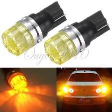 2x T10 Wedge Amber Yellow SMD LED Car Tail Turn Signal Light Bulb Lamp 1.5W 12V