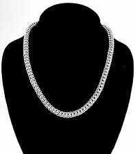 Chainmaille Sterling Silver Full Persian Necklace. 18 inches.
