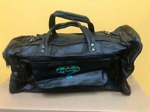 Batman Forever Collectors Item Genuine Leather Duffle Bag