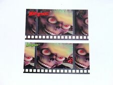 1996 MARS ATTACKS WIDEVISION PROMO TOPPS GREEN AND RED LOGO CARD SET! NO #!!