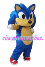 High quality Sonic Mascot Costume Cartoon Fancy Dress Adult Siz Free Shipping