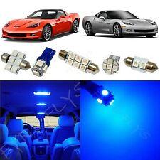 9x Blue LED lights interior package kit for 2005-2013 Chevy Corvette CC5B