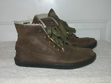 TOMS Women's LACE-UP SIGNATURE TEXTILE UPPER FASHION WALKING ANKLE BOOTS Brown 6