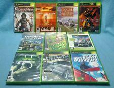 XBOX Original 10 Games lot1 PAL: good condition no sports titles