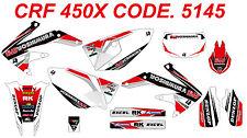 5145 HONDA CRF 450X 2005-2014 Autocollants Déco Graphics Stickers Decals Kit