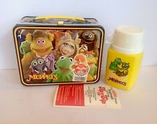 Vintage Mint 1979 Muppets Fozzie Bear Lunchbox W/Thermos & Tag & Papers