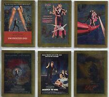 James Bond Connoisseurs Collection Volume 3 Complete Metalworks Card Set P12-17