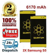2X Quantum 6170mAh Extended Slim Batteries For Samsung Galaxy S5 i9600 SM-G900V