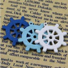 Anchor 50pcs Wall Embellishment Craft Mini Nautical Sea Decor Wooden Button