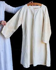Antique Linen Chemise American 19th Century Rustic Undergarment Large L Xl