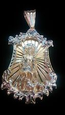 10k Yellow Solid Gold Saint Lazarus Pendant 35.7 Grams