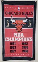 Chicago Bulls Championship Banner 3x5 Ft Flag Man Cave Decor NBA Basketball