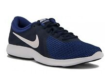 SCARPE RUNNING UOMO NIKE  AJ3490 414  REVOLUTION 4 MIDNIGHT NAVY/WHITE