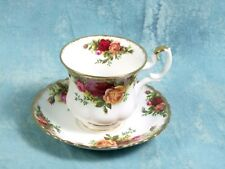 Royal Albert Old Country Roses Demitasse Coffee Cup Saucer gold First Edition