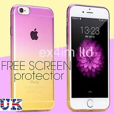 Pink Yellow Ultra Thin Ombre Rainbow Slim Clear Soft TPU Case For iPhone 6plus
