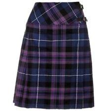 """Pride Of Scotland Ladies Knee Length Kilt Skirt 20"""" Length Tartan Pleated Kilts"""