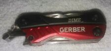 Gerber Dime Multi Tool Black/ Red Plier Cutter Camping Outdoor Stainless Steel
