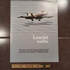 "Original Gates Learjet Softflite Brochure, 8.5 x 11"""