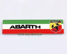 Nuevo Aluminio Cepillado Abarth Bandera Italiana Colores Coche Insignia punto 500