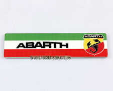 NEU Alu Gebürstet Abarth Italian Flagge Farben Auto Emblem Punto 500