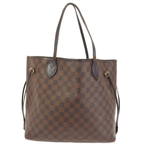 LOUIS VUITTON NEVERFULL MM HAND TOTE BAG EBENE DAMIER CANVAS N41358 cm 40142