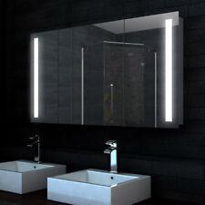 Bad Alu LED Badezimmer Spiegelschrank Badspiegel Schrank 120x68cm SK12068
