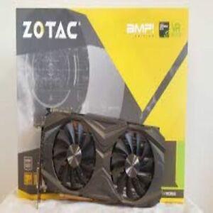 ZOTAC 1080 TI Amp 11GB OC NVIDIA Geforce Video Card