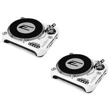 Epsilon DJ Turntable Bundle 2 Pcs DJT-1300 USB White, Direct Drive