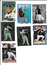 7 card lot of Frank Thomas Chicago White Sox (B101) Stadium Club, Finest Donruss