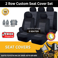 Seat Covers to Suit Toyota Hilux 2005-2015 SR SR5 KUN26R DUAL CAB Black
