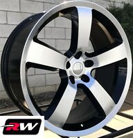 """20"""" RW Wheels for Dodge Challenger 20x9 Charger SRT 06 Style Machined Black Rims"""