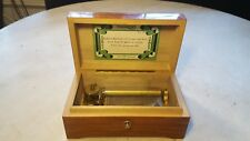 Antique Thorens 3 Tune Inlaid Music Box Plays Great